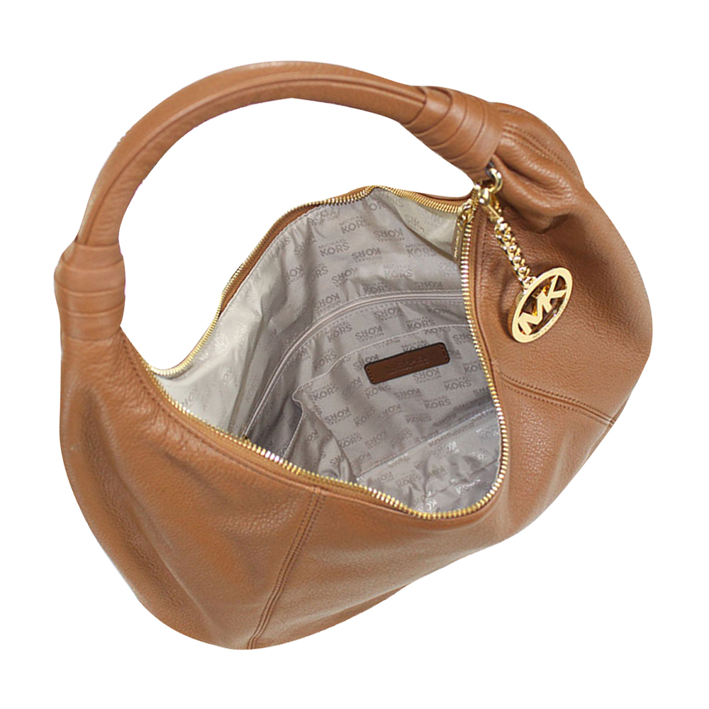 auth michael kors classic leather hobo shoulder bag handbag ebay. Black Bedroom Furniture Sets. Home Design Ideas